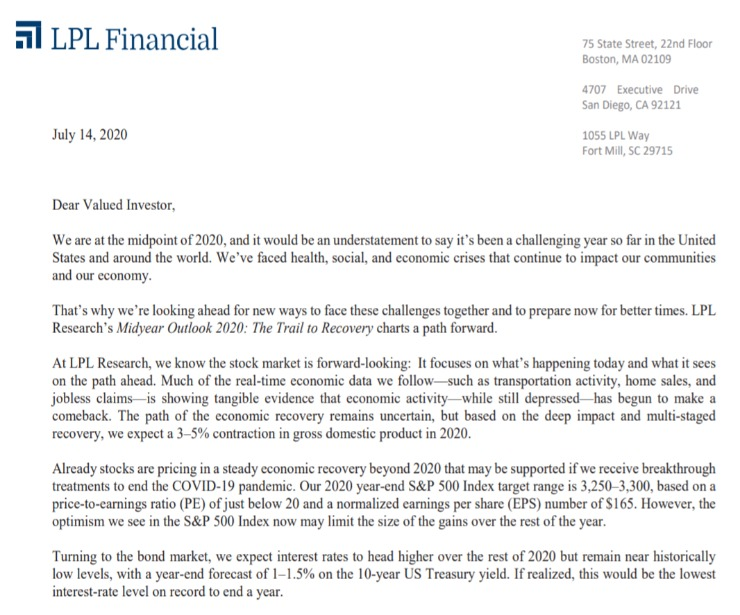 Client Letter   Midyear Outlook 2020   July 14, 2020